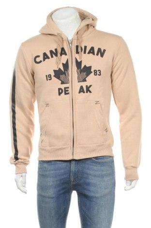 Мъжки суичър Canadian Peak, Размер M, Цвят Бежов, 65% памук, 35% полиестер, Цена 48,95лв.