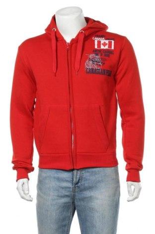 Мъжки суичър Canadian Peak, Размер M, Цвят Червен, 65% памук, 35% полиестер, Цена 44,50лв.