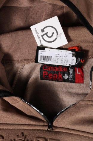 Мъжки суичър Canadian Peak, Размер L, Цвят Кафяв, 65% памук, 35% полиестер, Цена 66,75лв.