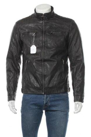 Ανδρικό δερμάτινο μπουφάν Desigual, Μέγεθος M, Χρώμα Μαύρο, Δερματίνη, Τιμή 60,08€