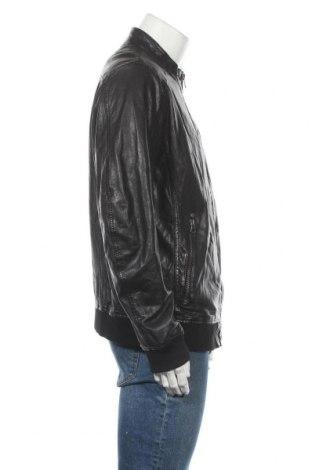 Мъжко кожено яке Gipsy, Размер XL, Цвят Черен, Естествена кожа, Цена 284,25лв.