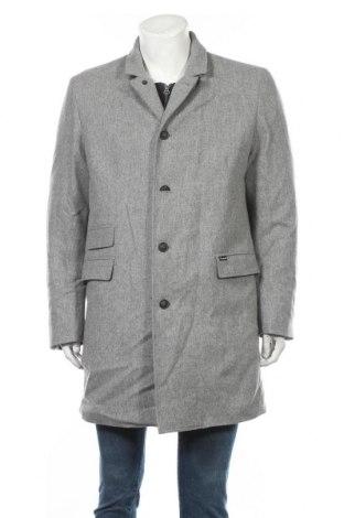 Мъжко палто Faconnable, Размер L, Цвят Сив, Вълна, Цена 148,12лв.