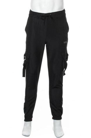 Мъжко спортно долнище Boohoo, Размер S, Цвят Черен, 100% полиестер, Цена 34,50лв.