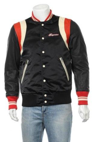 Ανδρικό μπουφάν Diesel, Μέγεθος M, Χρώμα Μαύρο, Κλωστοϋφαντουργικά προϊόντα, γνήσιο δέρμα, Τιμή 69,82€