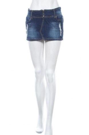 Пола Lulu, Размер M, Цвят Син, 98% памук, 2% еластан, Цена 6,62лв.