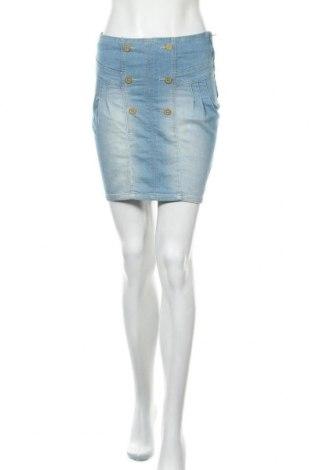 Φούστα Zara Trafaluc, Μέγεθος S, Χρώμα Μπλέ, 55% βαμβάκι, 23% πολυεστέρας, 21% βισκόζη, 1% ελαστάνη, Τιμή 10,76€