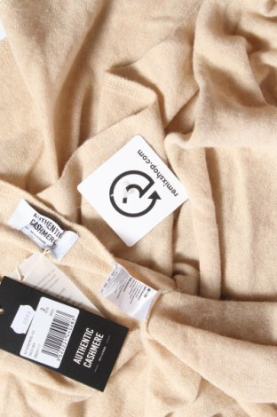 Пончо Authentic Cashmere, Размер M, Цвят Бежов, Кашмир, Цена 141,75лв.