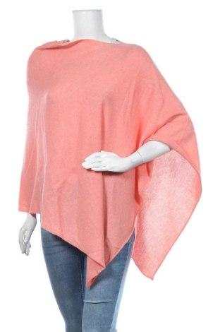 Пончо Authentic Cashmere, Размер S, Цвят Розов, Кашмир, Цена 149,25лв.