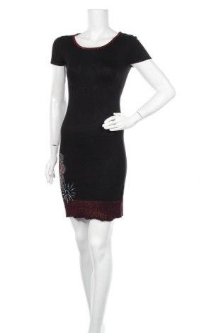 Φόρεμα Desigual, Μέγεθος S, Χρώμα Μαύρο, 64% βισκόζη, 34% βαμβάκι, 1% μεταλλικά νήματα, 1% πολυεστέρας, Τιμή 25,34€