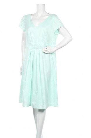 Рокля Luisa Cerano, Размер XL, Цвят Зелен, 63% памук, 37% полиестер, Цена 44,10лв.