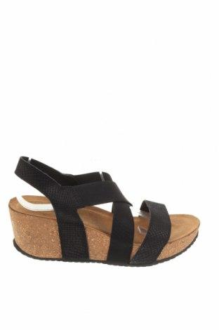 Сандали Copenhagen Shoes, Размер 41, Цвят Черен, Естествена кожа, текстил, Цена 47,32лв.