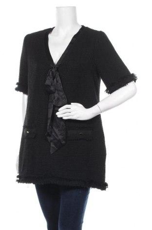Τουνίκ Zara, Μέγεθος L, Χρώμα Μαύρο, 46%ακρυλικό, 21% πολυεστέρας, 20% βαμβάκι, 13% βισκόζη, Τιμή 22,81€