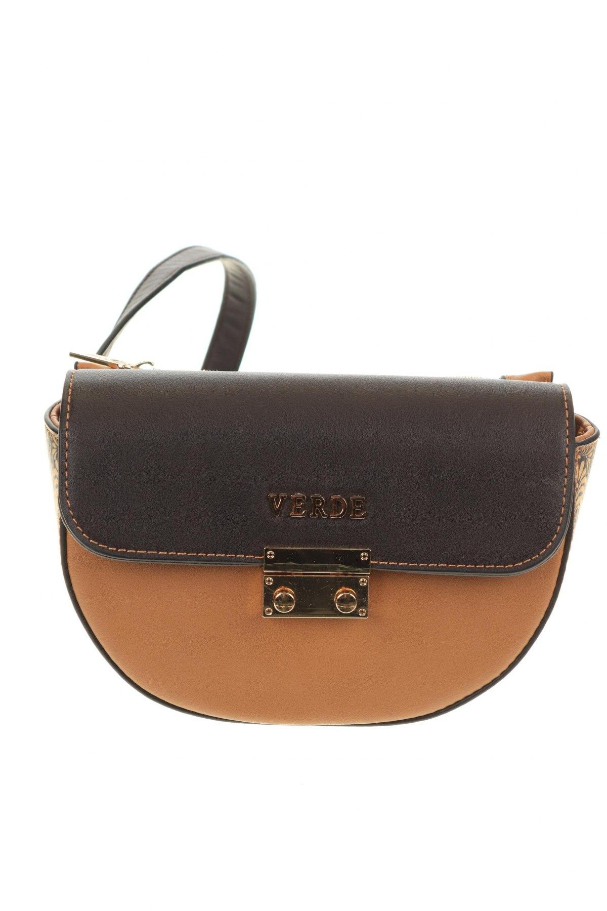 Чанта за кръст Verde, Цвят Бежов, Еко кожа, Цена 28,32лв.