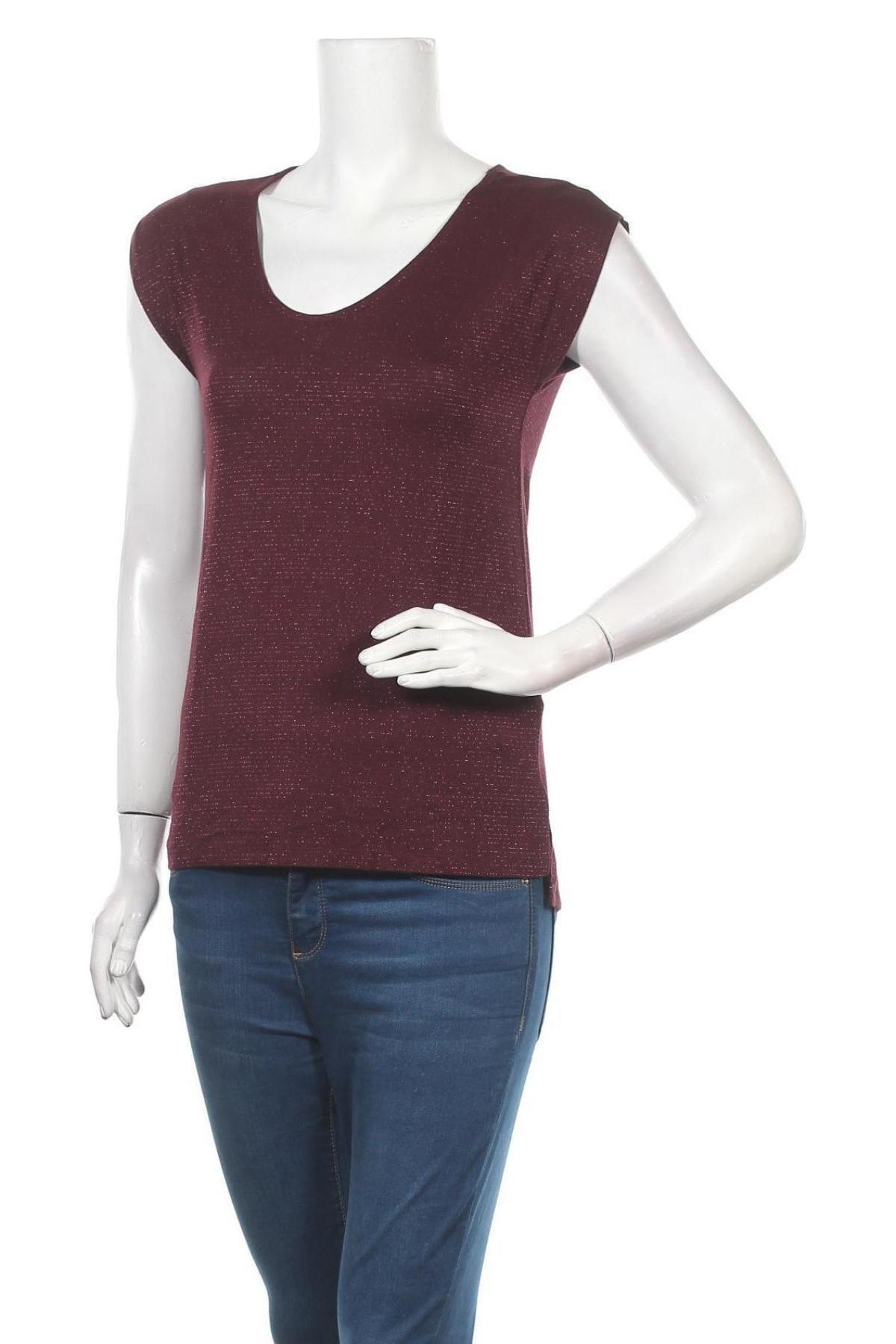 Дамска блуза Kiomi, Размер XXS, Цвят Червен, 85% вискоза, 5% еластан, Цена 24,00лв.