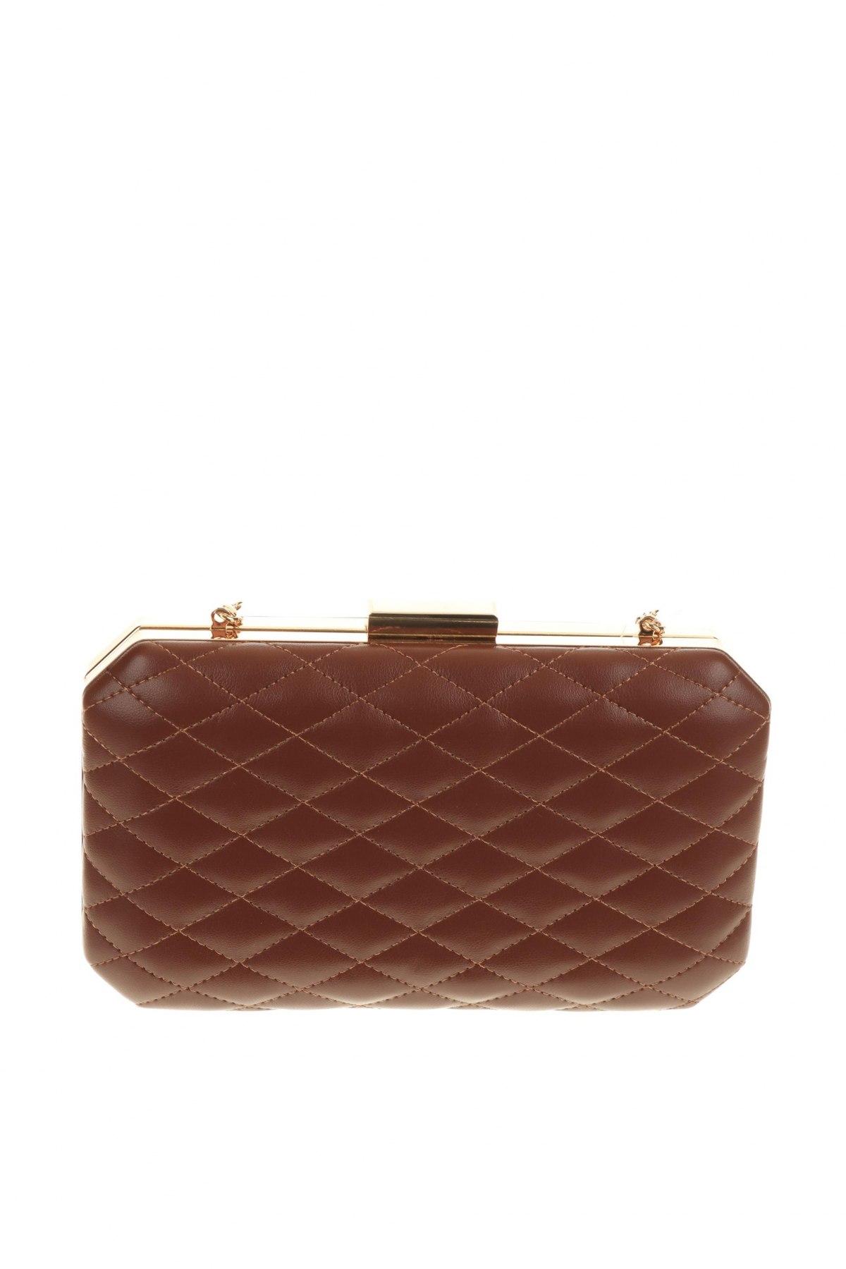 Дамска чанта Verde, Цвят Кафяв, Еко кожа, Цена 22,42лв.