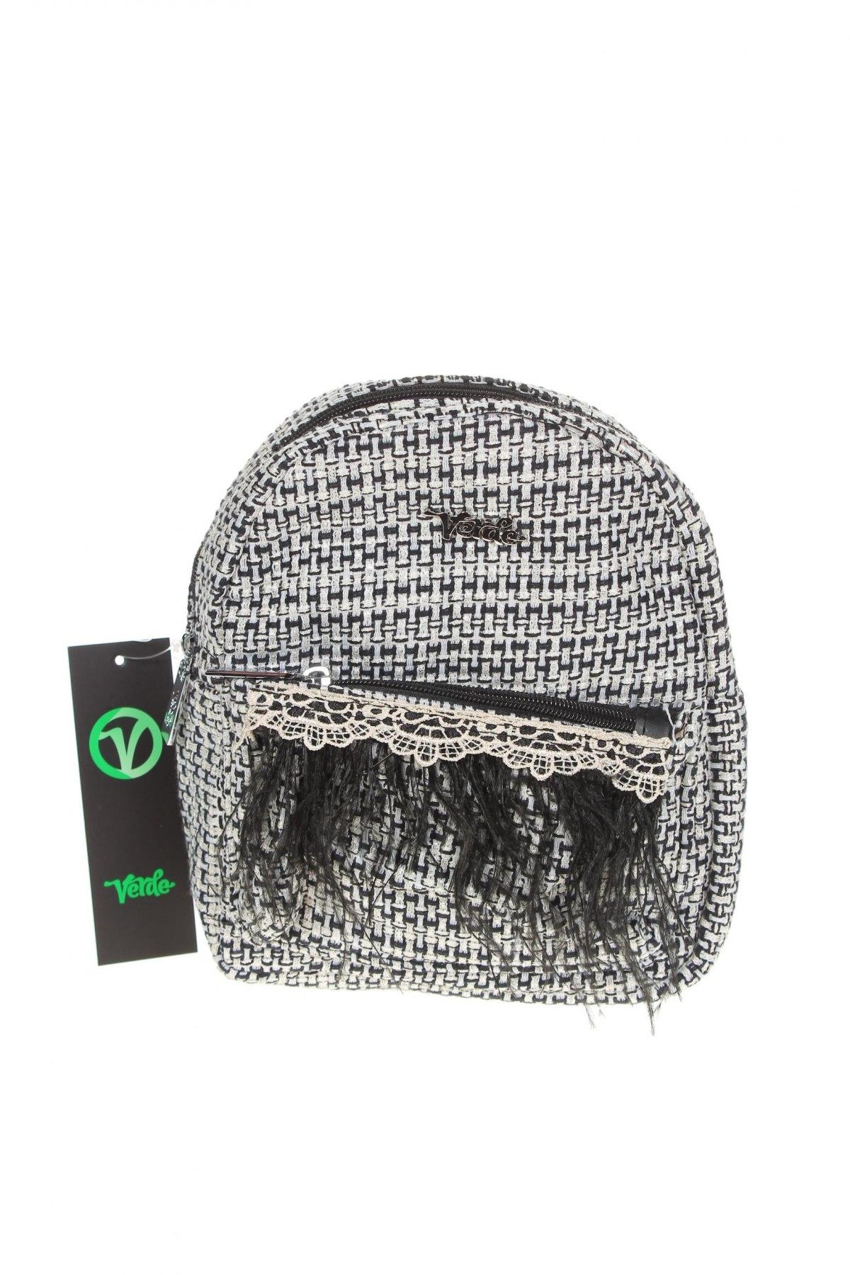 Дамска чанта Verde, Цвят Черен, Текстил, Цена 44,25лв.