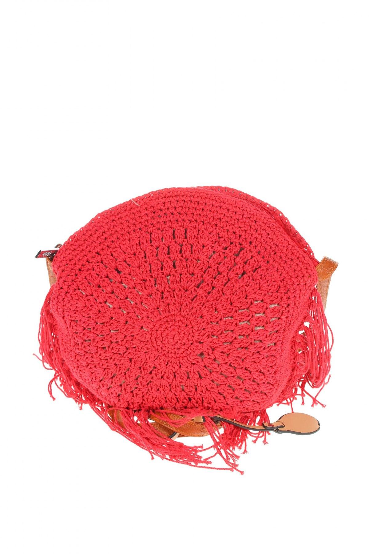 Дамска чанта Verde, Цвят Червен, Текстил, Цена 27,60лв.