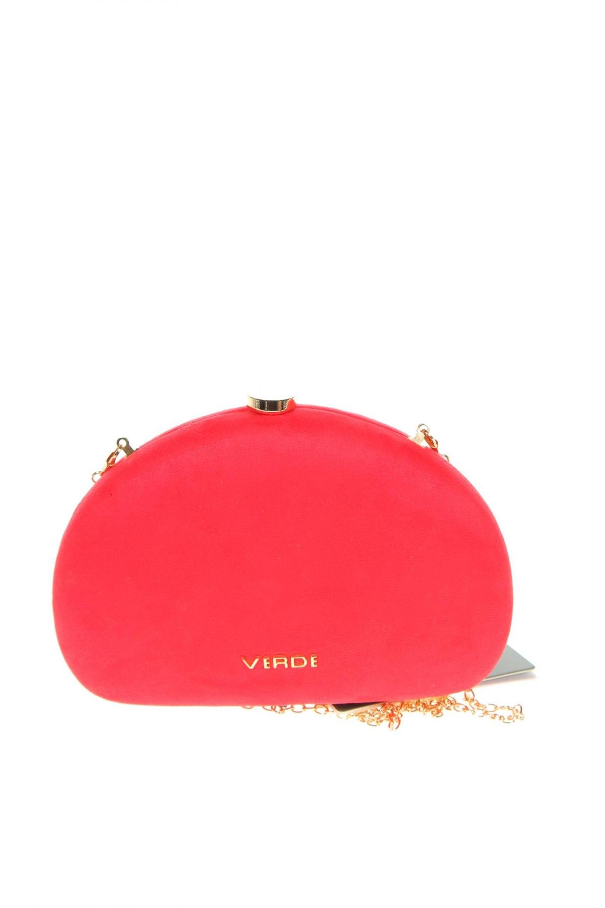 Дамска чанта Verde, Цвят Червен, Текстил, Цена 26,55лв.
