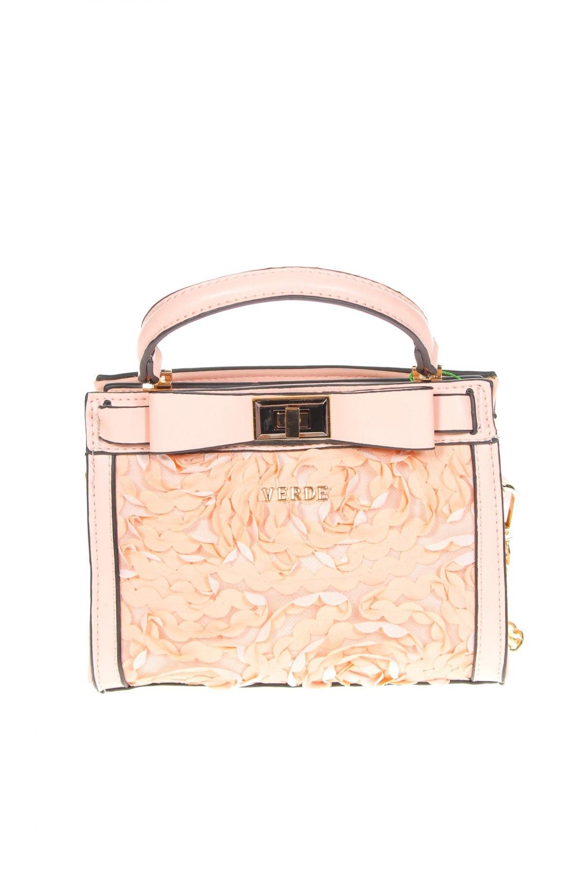 Дамска чанта Verde, Цвят Розов, Еко кожа, Цена 15,87лв.