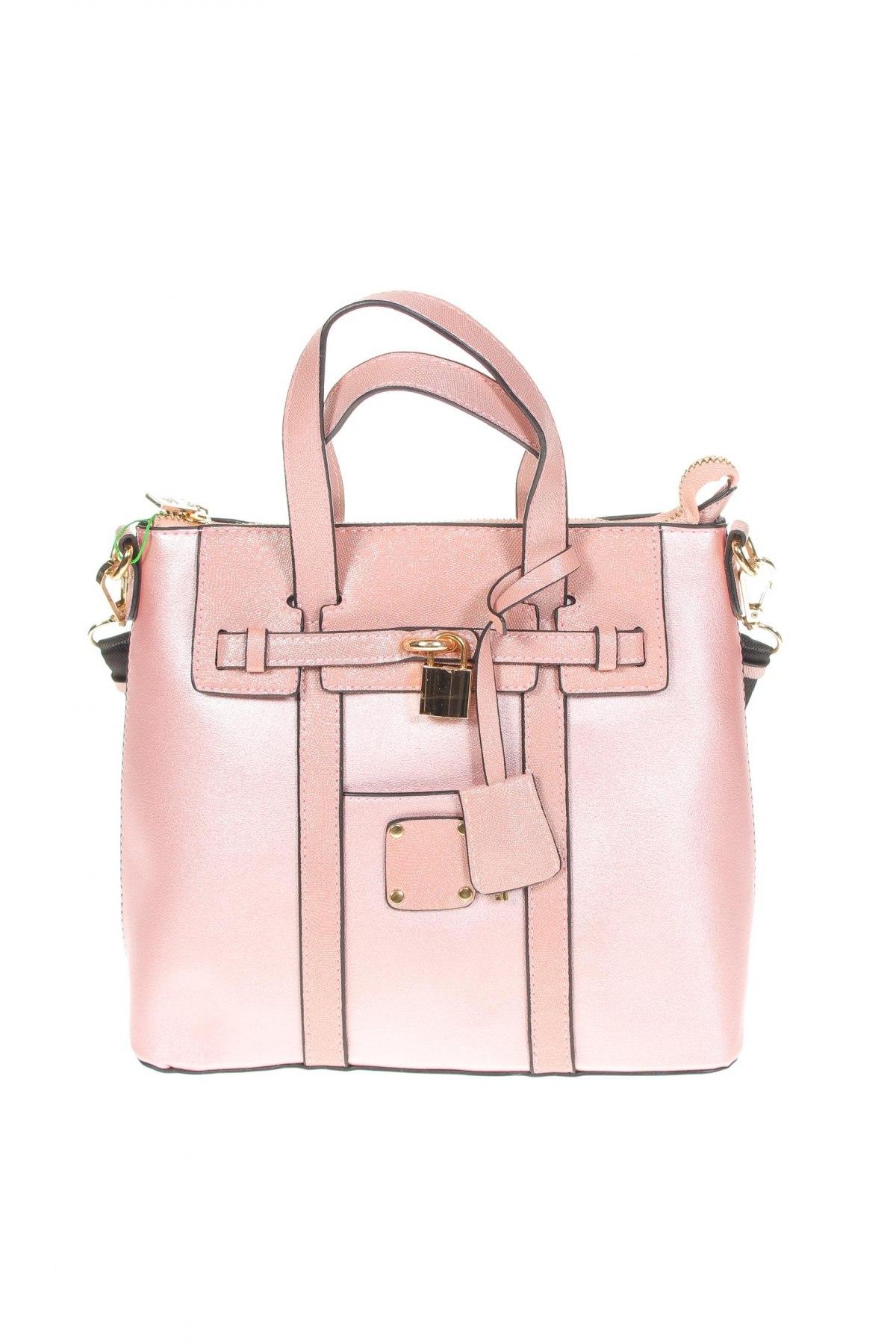Дамска чанта Verde, Цвят Розов, Еко кожа, Цена 19,75лв.