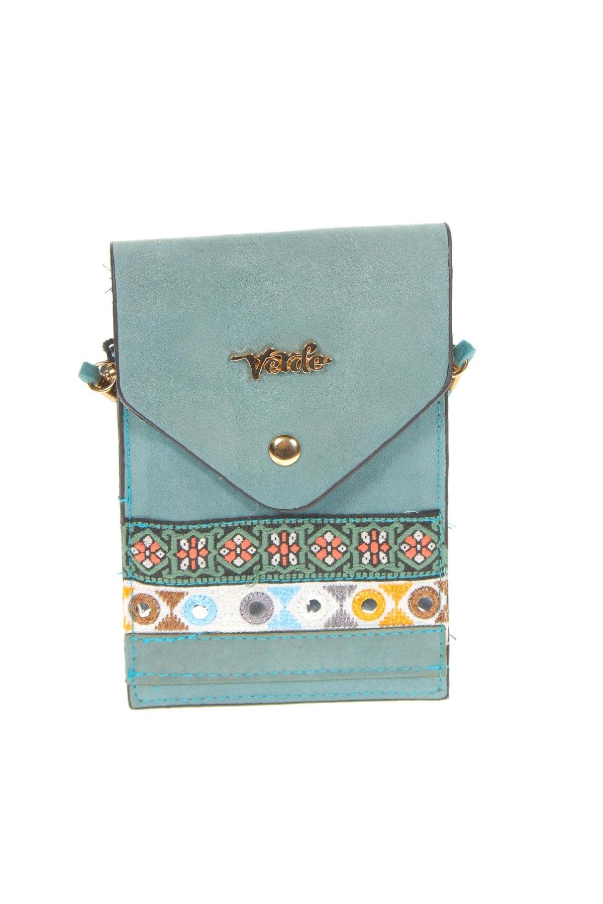 Дамска чанта Verde, Цвят Син, Текстил, Цена 22,36лв.