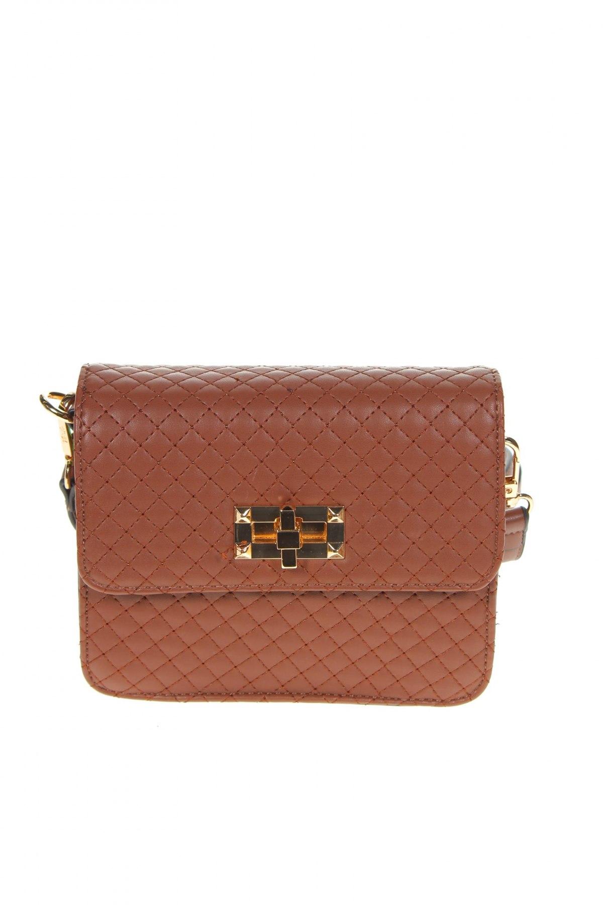 Дамска чанта Verde, Цвят Кафяв, Еко кожа, Цена 13,57лв.