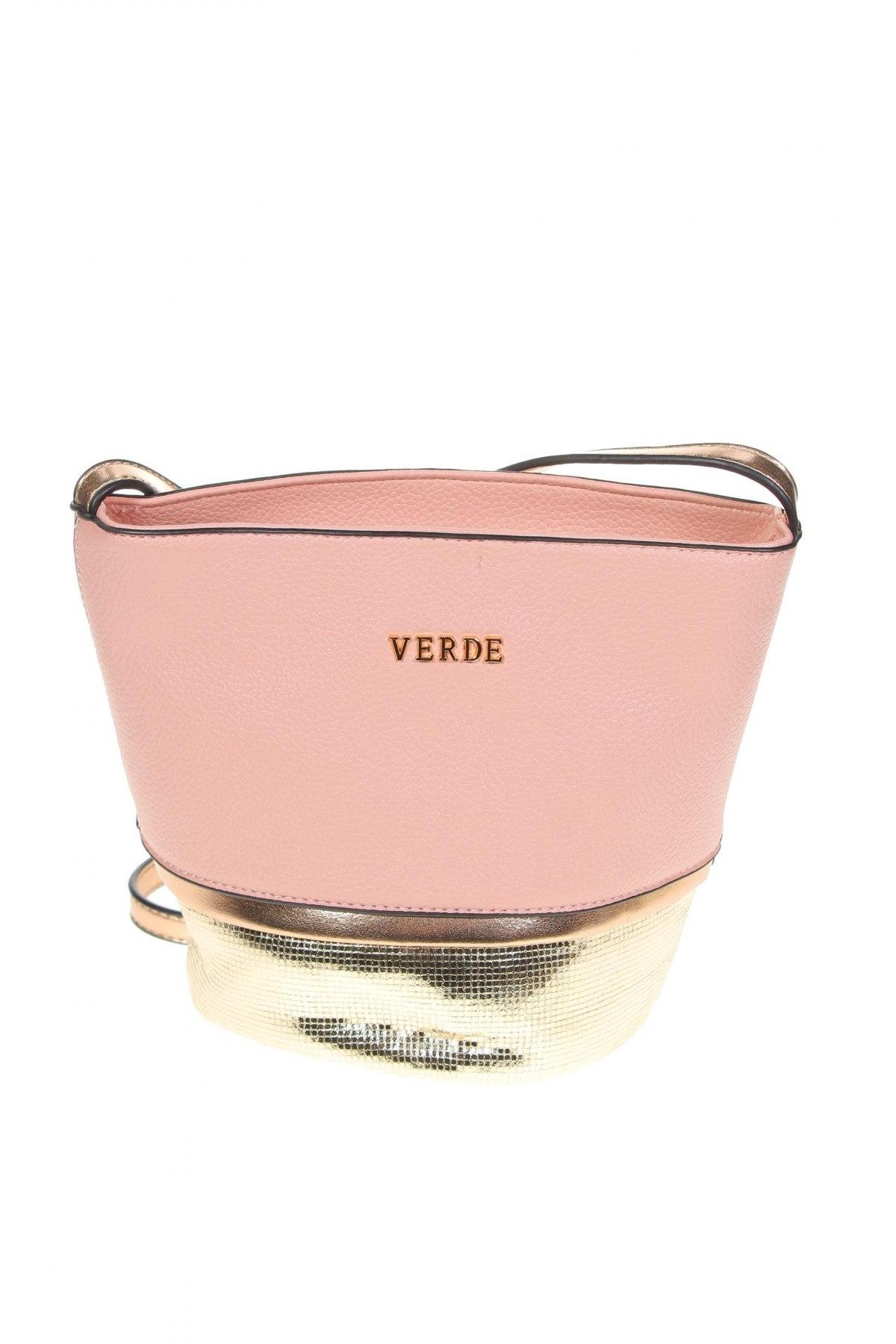 Дамска чанта Verde, Цвят Розов, Еко кожа, Цена 30,02лв.
