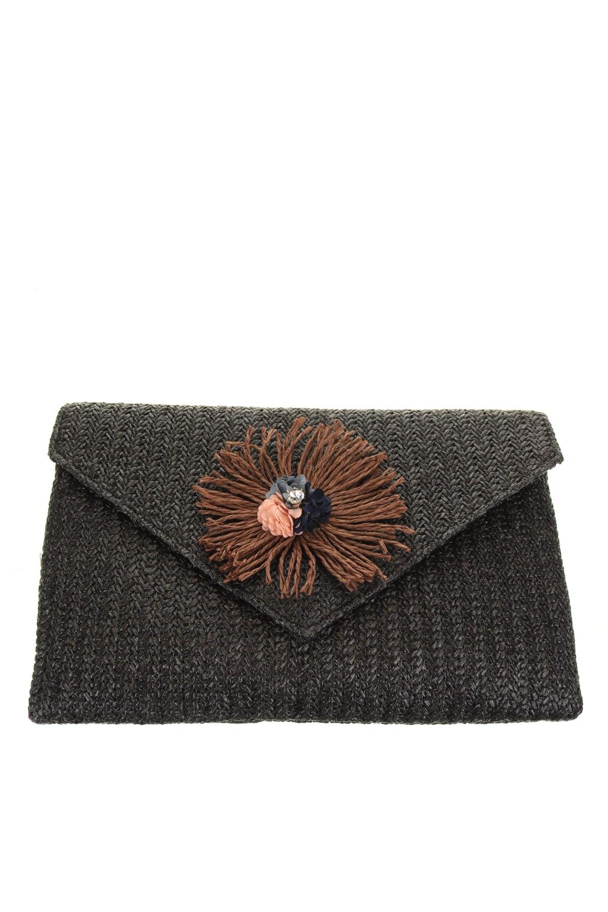 Дамска чанта Verde, Цвят Черен, Други материали, Цена 44,25лв.