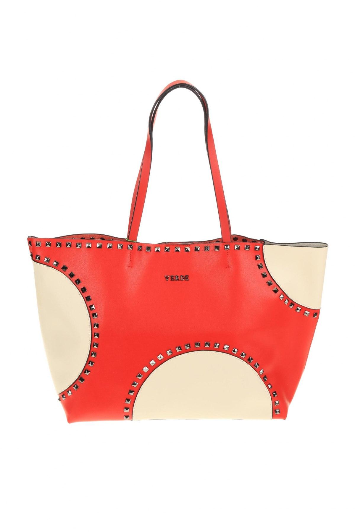 Дамска чанта Verde, Цвят Червен, Еко кожа, Цена 32,04лв.