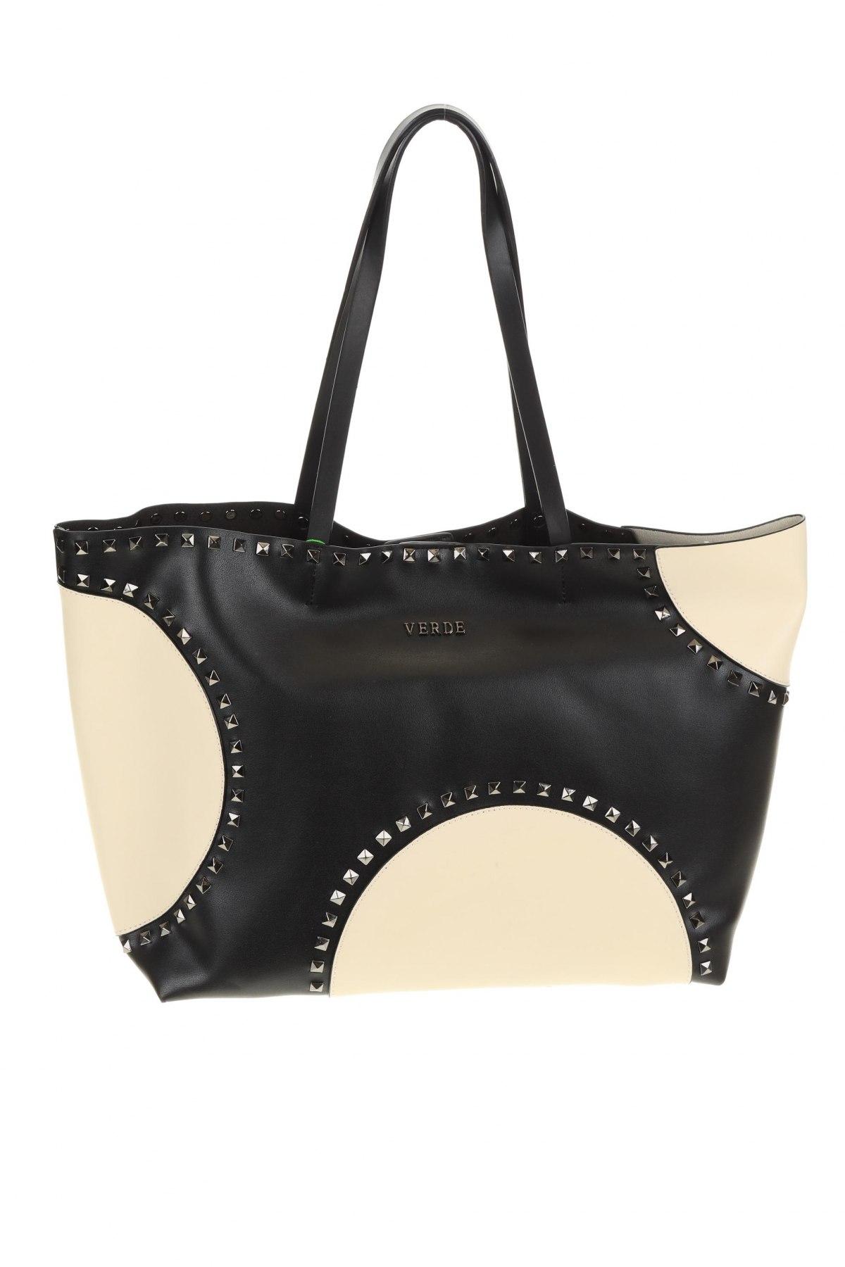 Дамска чанта Verde, Цвят Черен, Еко кожа, Цена 32,93лв.