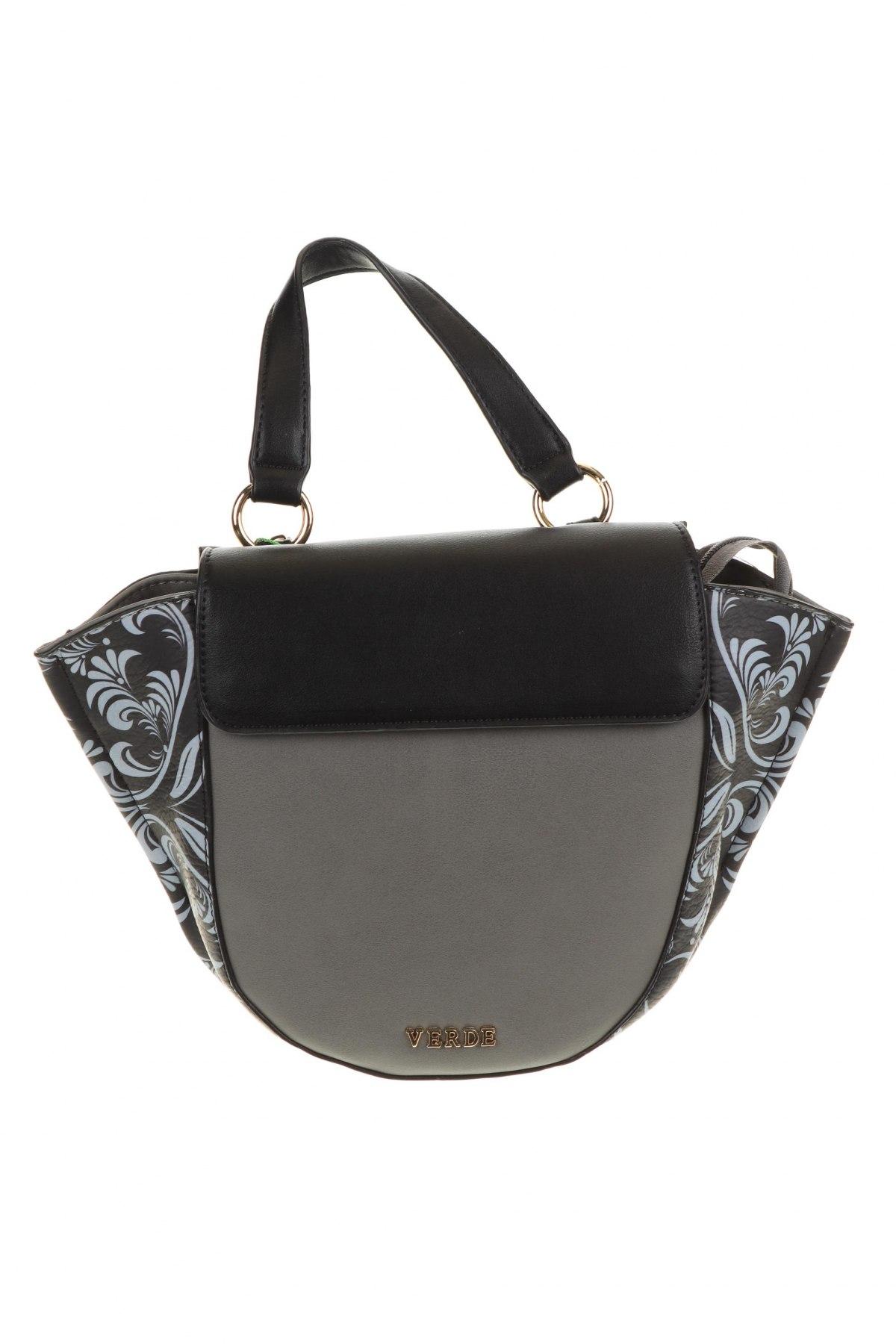 Γυναικεία τσάντα Verde, Χρώμα Γκρί, Δερματίνη, Τιμή 30,54€