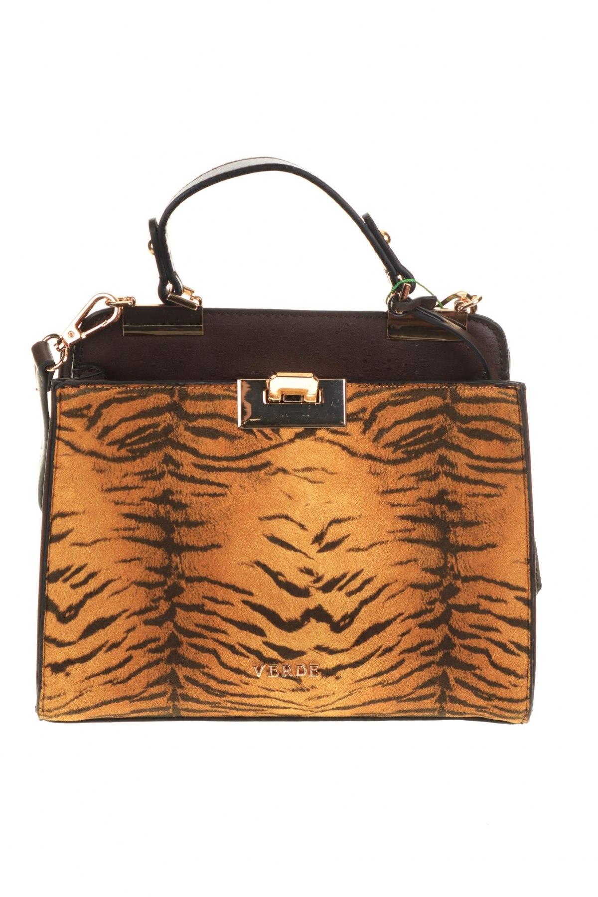 Дамска чанта Verde, Цвят Кафяв, Еко кожа, Цена 18,17лв.