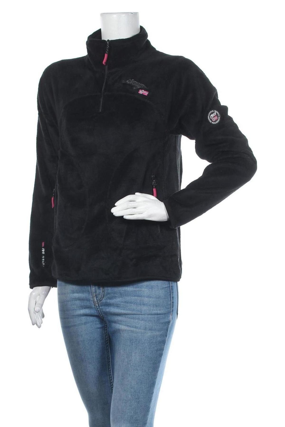 Bluză trening de femei Geographical Norway, Mărime M, Culoare Negru, Poliester, Preț 194,90 Lei