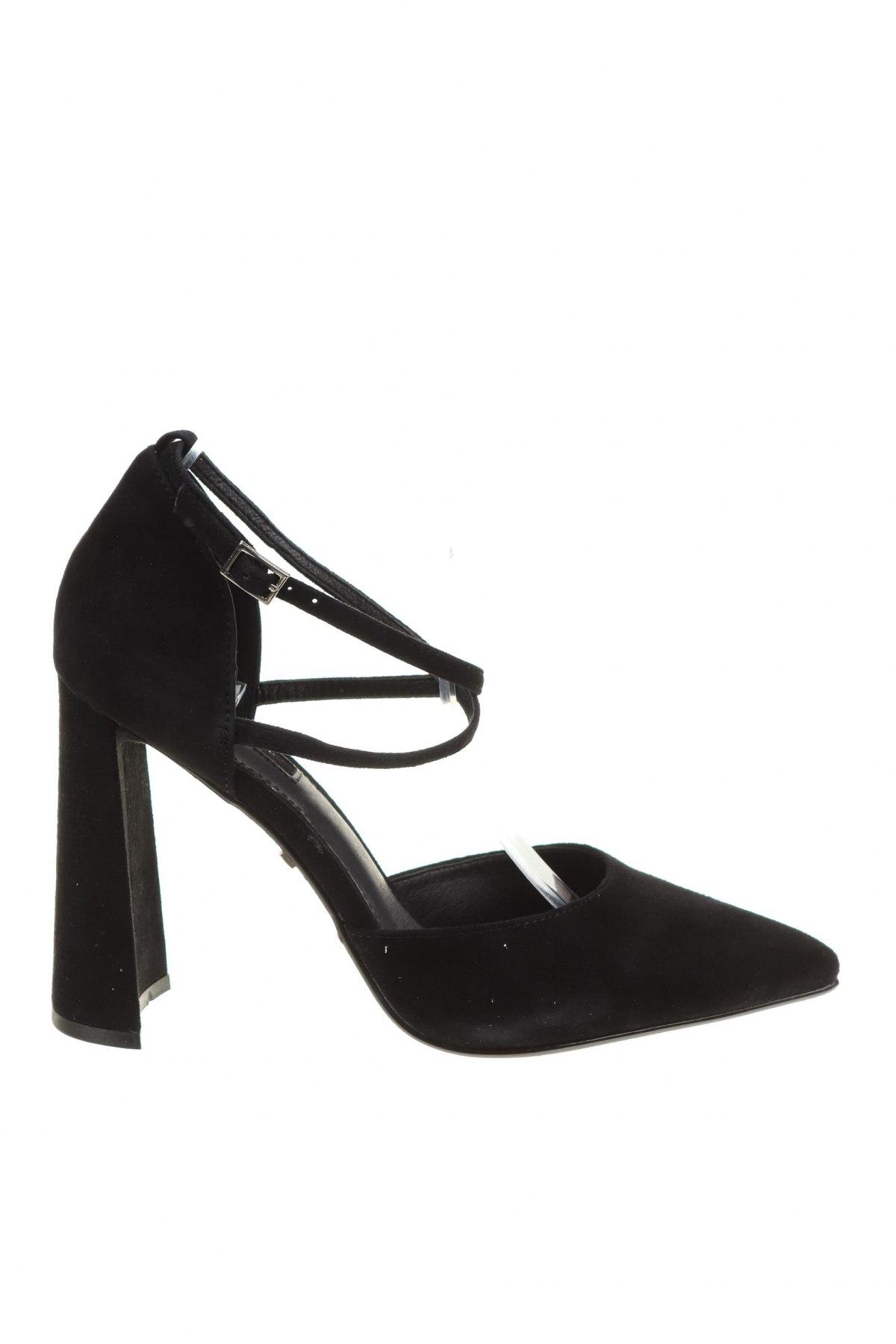 Дамски обувки Topshop, Размер 39, Цвят Черен, Естествен велур, Цена 33,00лв.