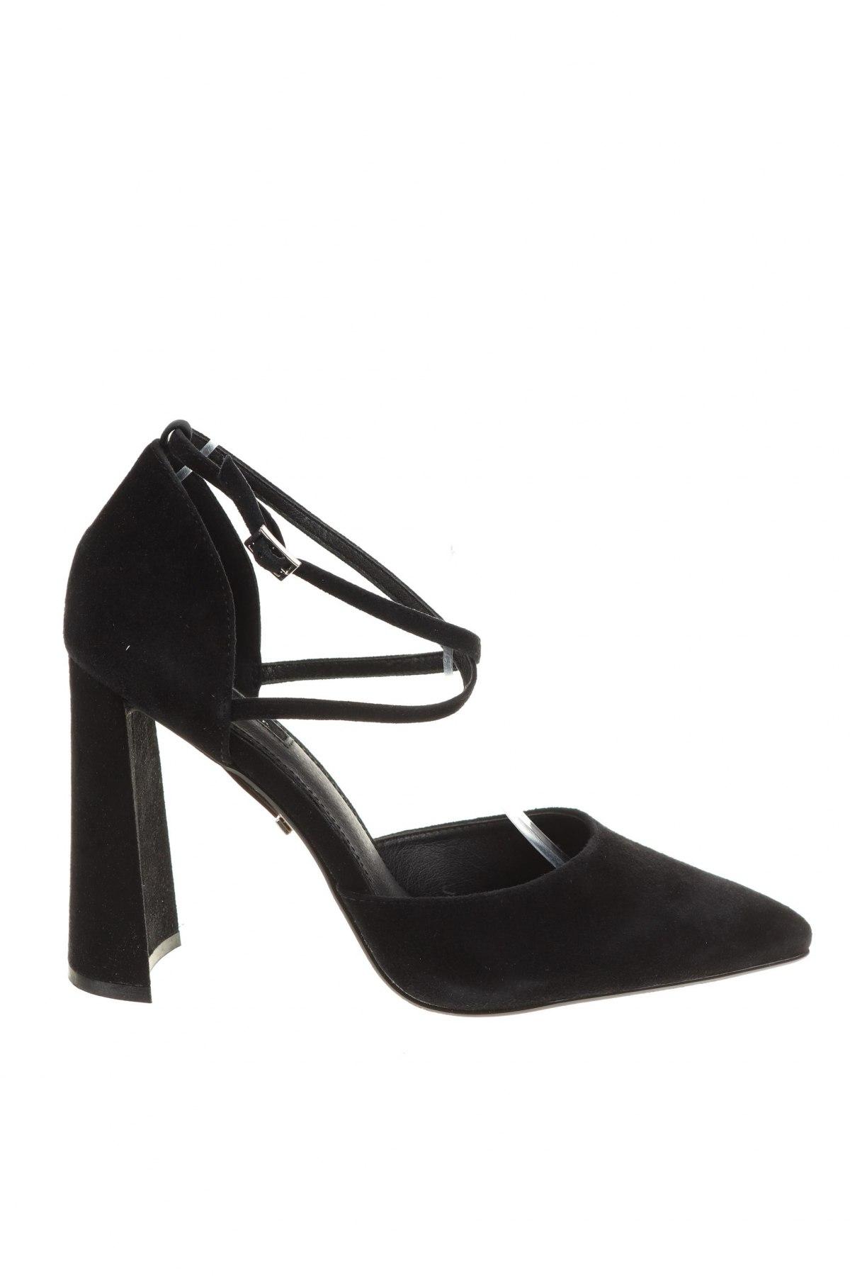 Дамски обувки Topshop, Размер 41, Цвят Черен, Естествен велур, Цена 33,00лв.