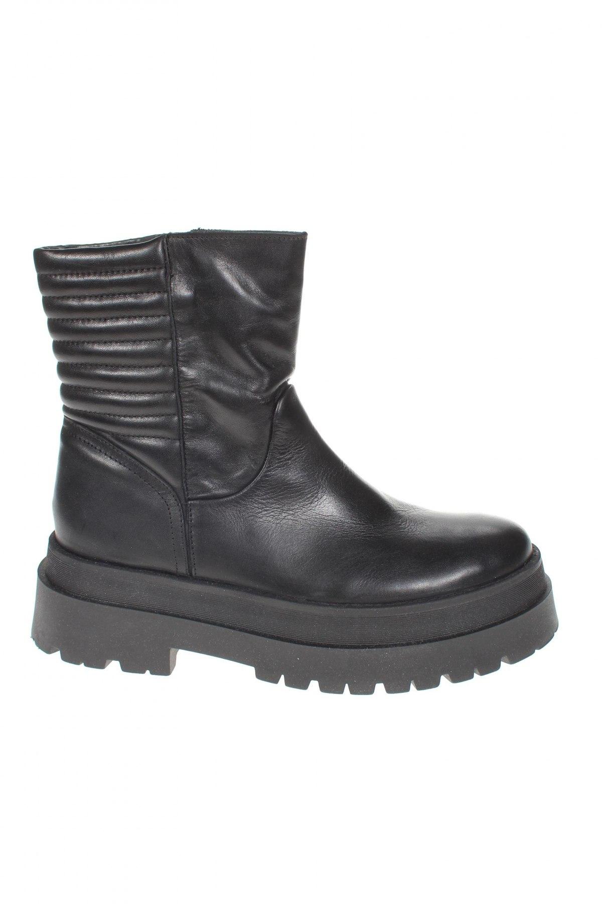 Дамски боти Zign, Размер 39, Цвят Черен, Естествена кожа, Цена 149,00лв.