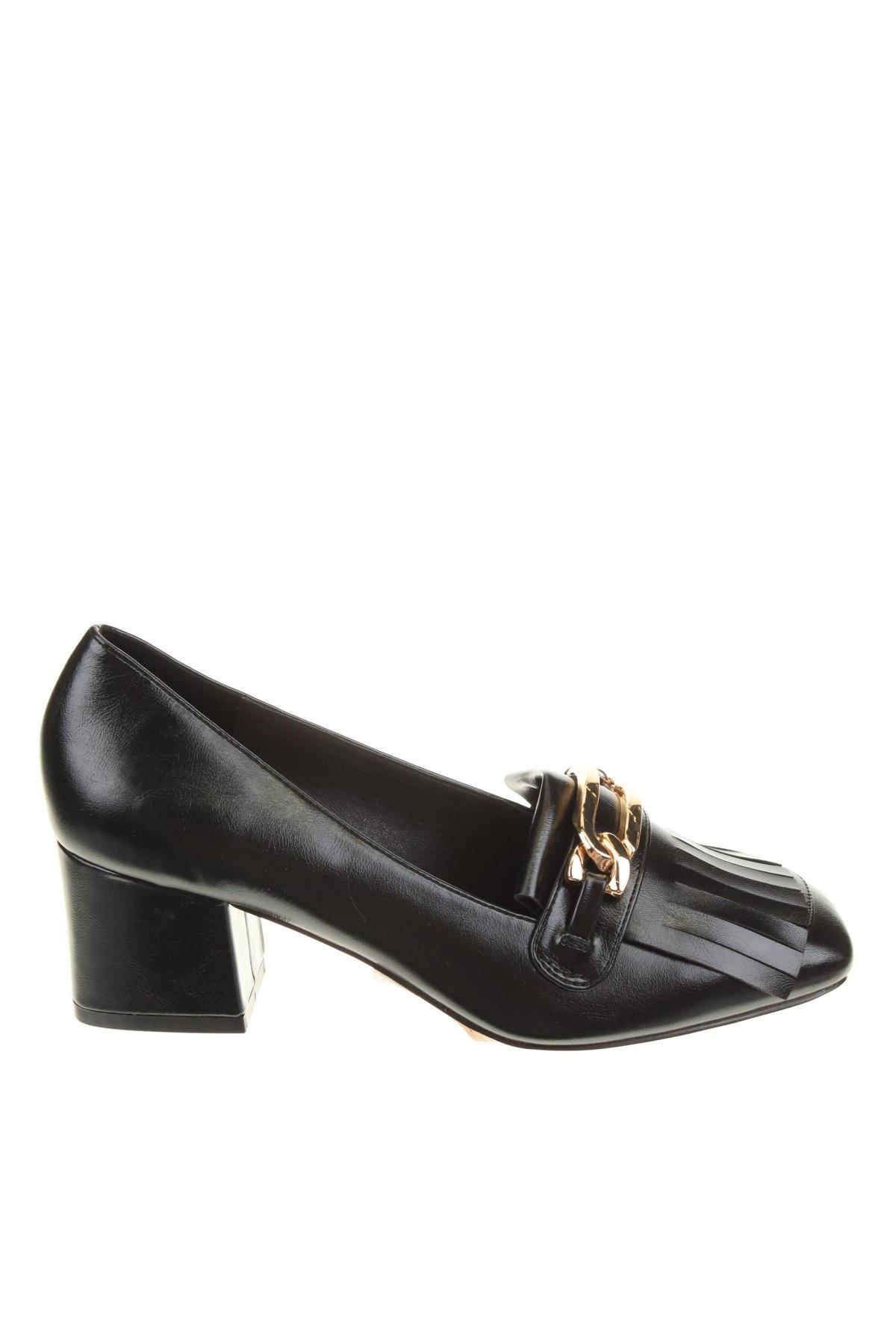 Дамски обувки River Island, Размер 40, Цвят Черен, Еко кожа, Цена 24,90лв.
