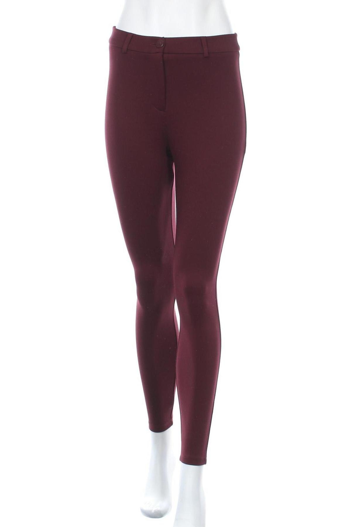 Дамски панталон Dorothy Perkins, Размер M, Цвят Червен, 69% вискоза, 27% полиамид, 4% еластан, Цена 42,00лв.