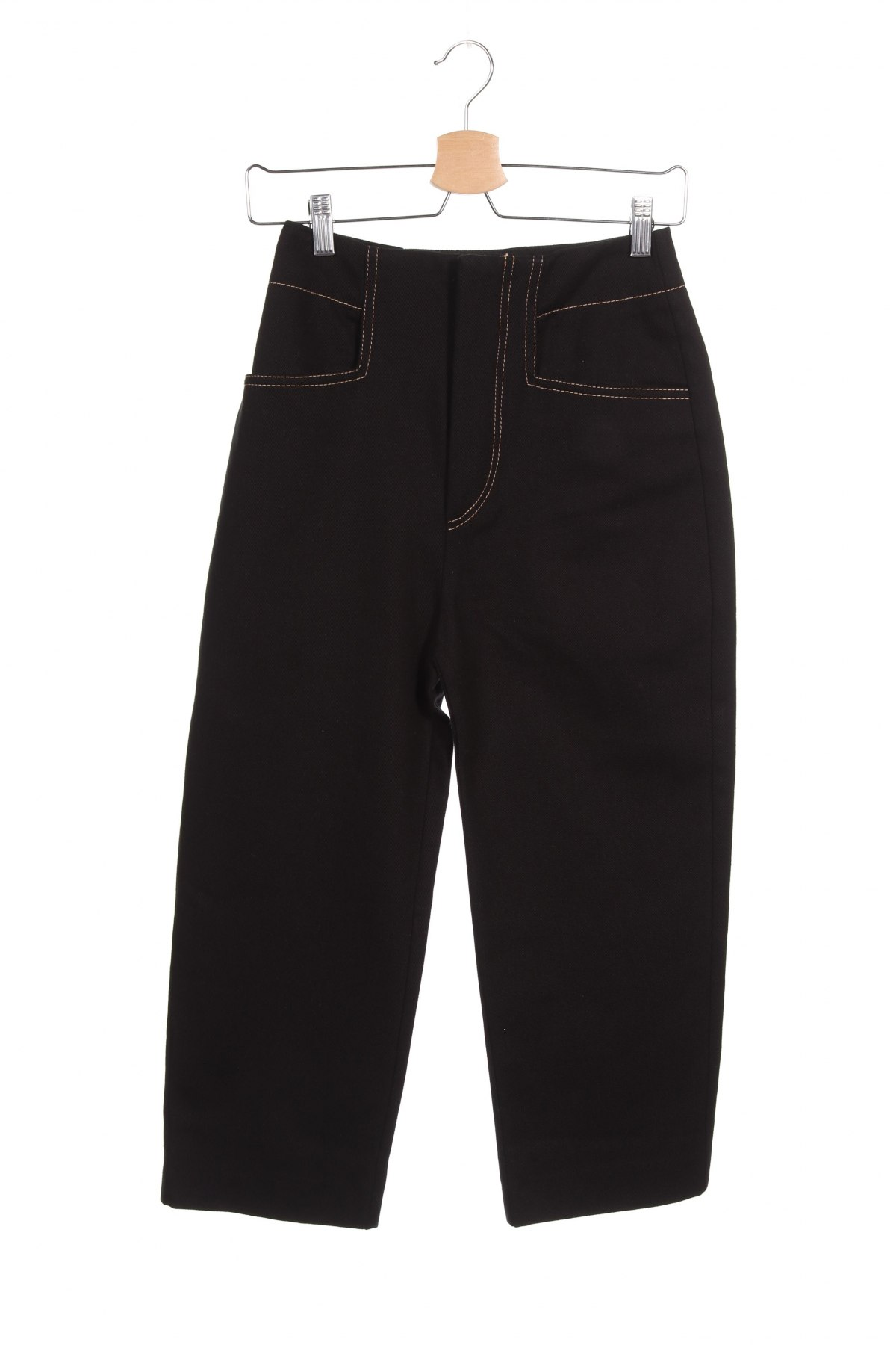 Дамски панталон Mango, Размер S, Цвят Черен, Памук, Цена 44,25лв.