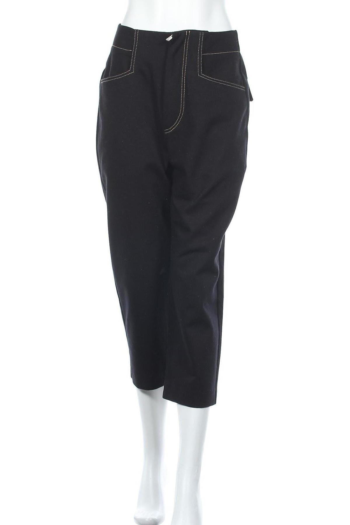 Дамски панталон Mango, Размер M, Цвят Черен, Памук, Цена 44,25лв.