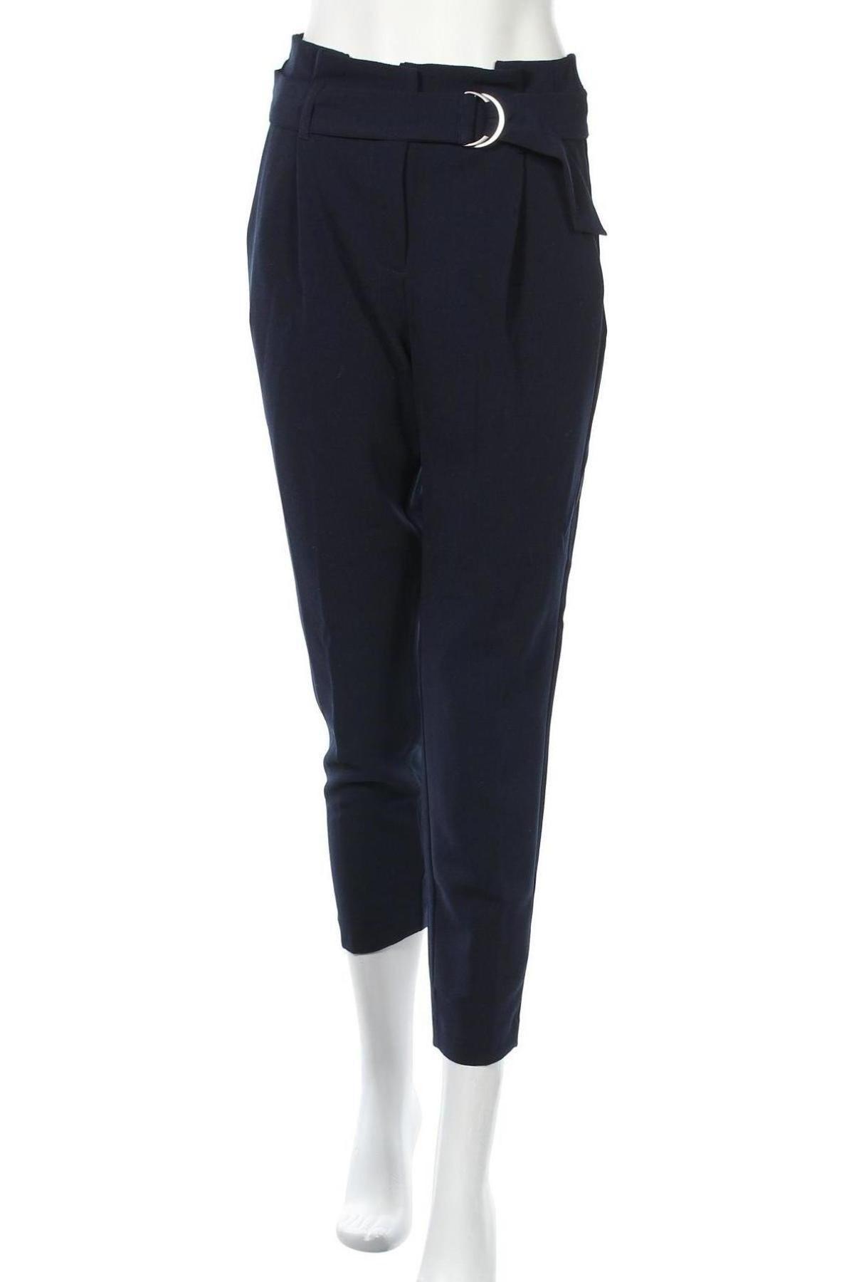 Дамски панталон ONLY, Размер S, Цвят Син, 97% полиестер, 3% еластан, Цена 16,22лв.