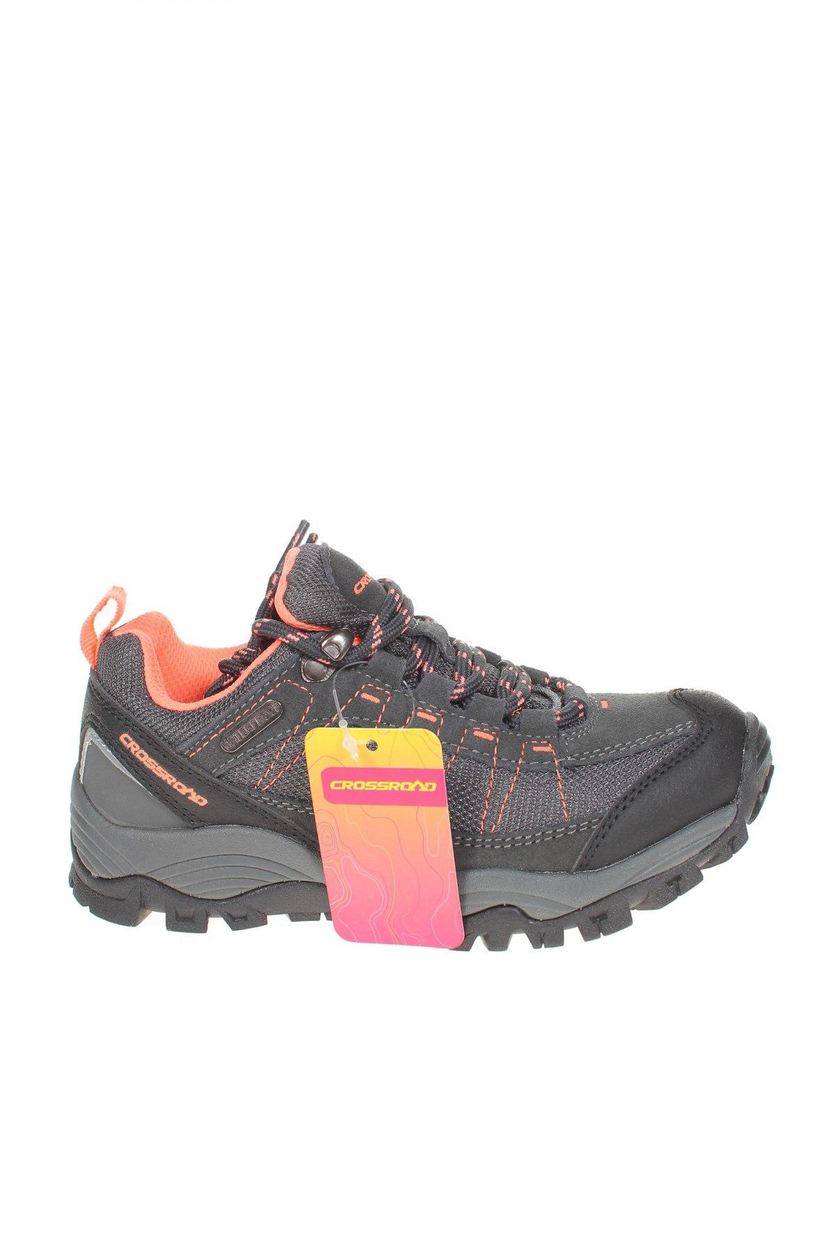 Детски обувки, Размер 31, Цвят Сив, Естествен велур, еко кожа, текстил, Цена 21,60лв.