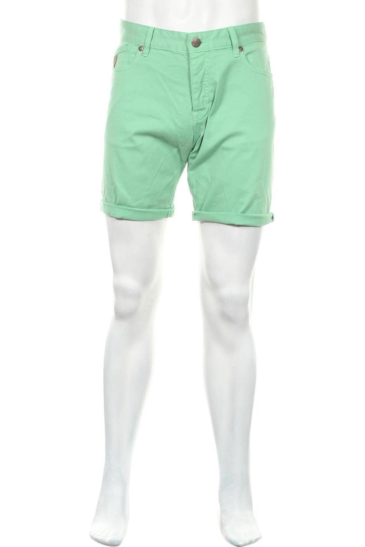 Мъжки къс панталон Lois, Размер L, Цвят Зелен, 98% памук, 2% еластан, Цена 59,25лв.