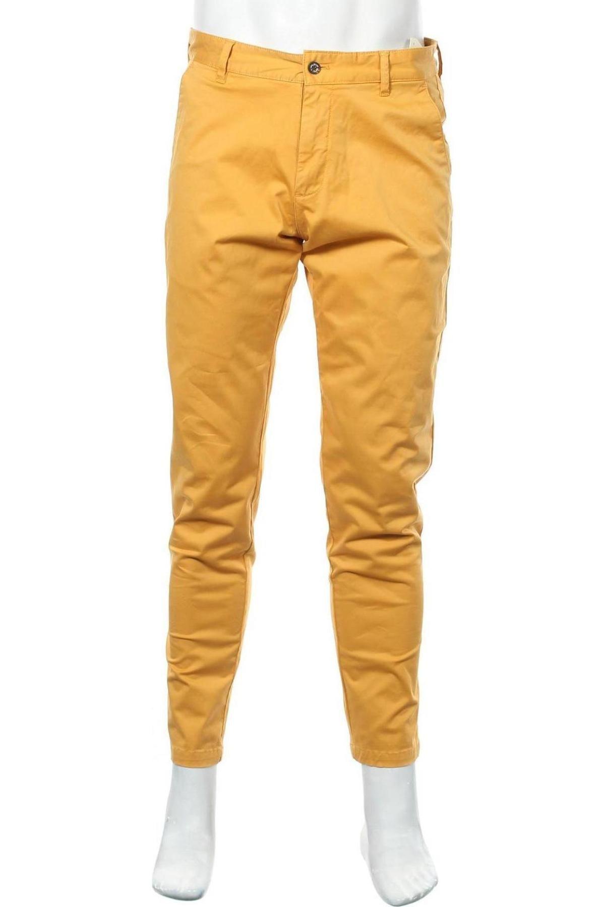 Pantaloni de bărbați Lois, Mărime M, Culoare Galben, 98% bumbac, 2% elastan, Preț 293,59 Lei