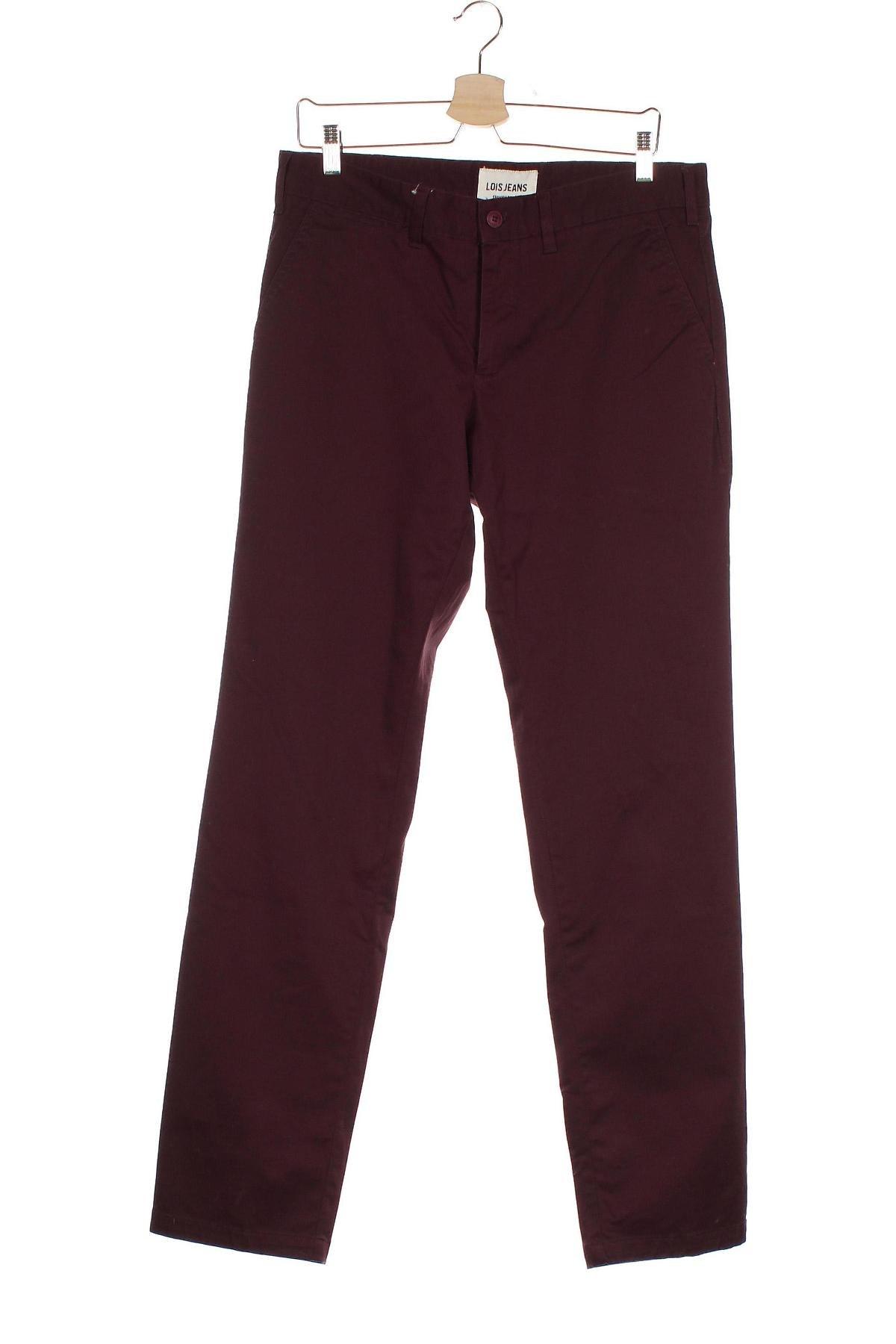 Мъжки панталон Lois, Размер M, Цвят Червен, 98% памук, 2% еластан, Цена 33,41лв.