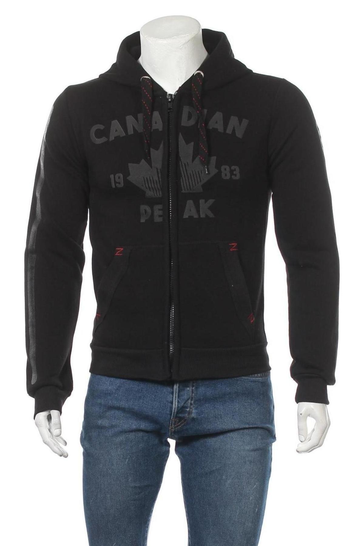 Hanorac de bărbați Canadian Peak, Mărime M, Culoare Negru, 65% bumbac, 35% poliester, Preț 219,57 Lei