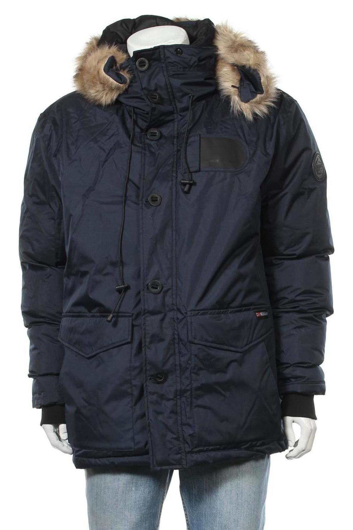 Мъжко яке Geographical Norway, Размер L, Цвят Син, Полиестер, Цена 246,75лв.