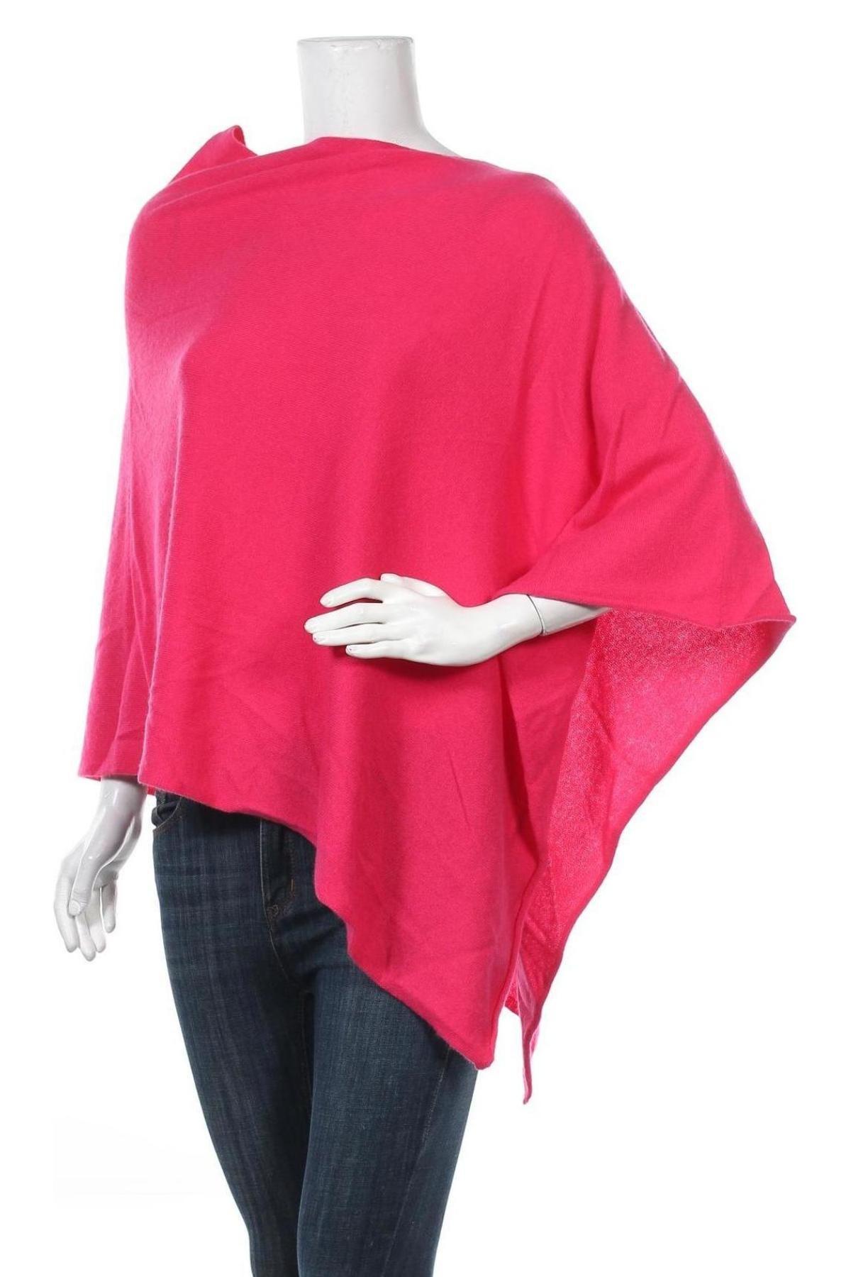 Пончо Perfect Cashmere, Размер M, Цвят Розов, Кашмир, Цена 89,55лв.