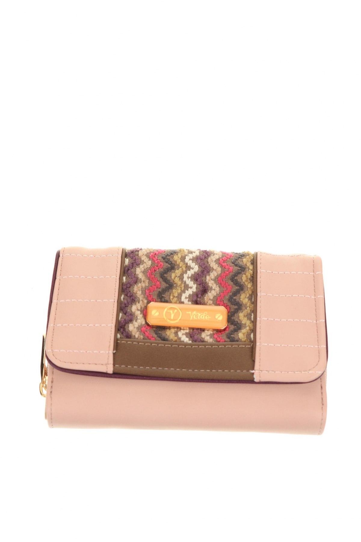 Портмоне Verde, Цвят Розов, Еко кожа, текстил, Цена 22,05лв.