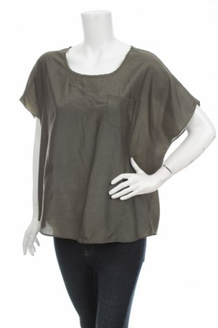 Дамска блуза Znk, Размер M, Цвят Зелен, 100% полиестер, Цена 4,59лв.